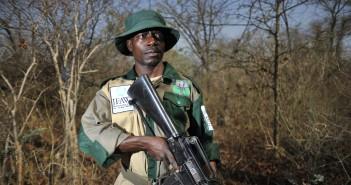 Raphael Chiwindo, 39, patrolling the Liwonde National Park looking for poachers, near Chikolongo.
