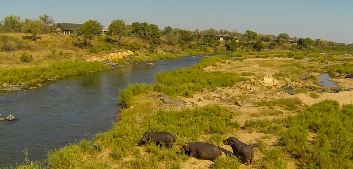 Privately owned homes in the Mjejane Private Game Reserve on the banks of the Crocodile River. © Mjejane