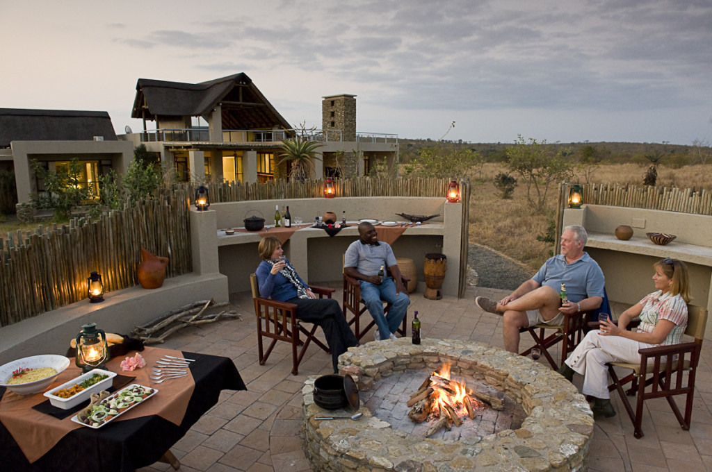 Mjejane investors relaxing in their very own bushveld home © Mjejane