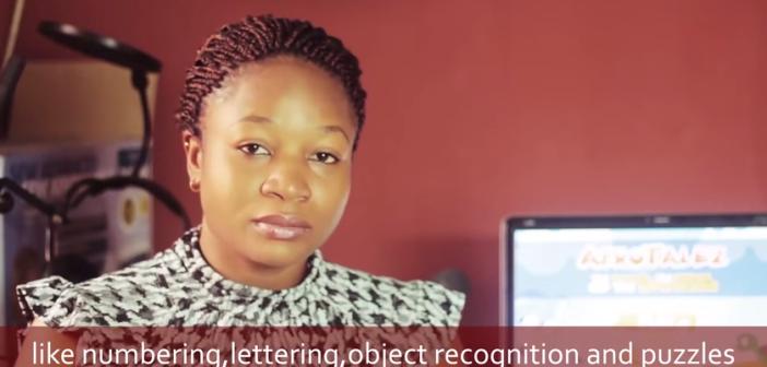 Nigerian entrepreneur Elizabeth Kperrun, developer of the AfroTalez app.
