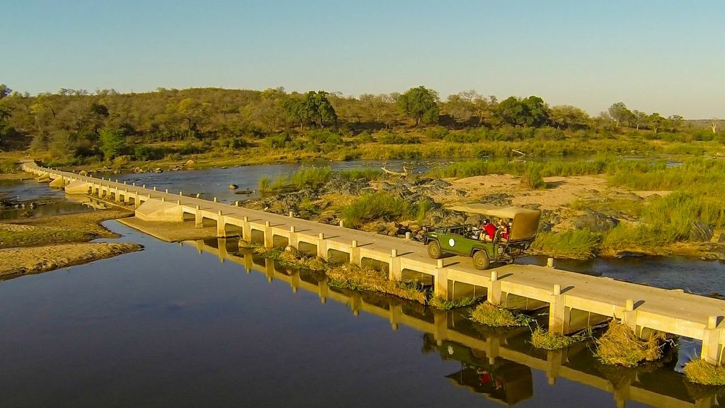 The causeway bridge linking Mjejane with the Kruger National Park was an important element in the Mjejane land claim settlement as the community's original land extended beyond the Crocodile River and it was essential that they and the Mjejane private land ownders should have access to this southern corner of the park. © Mjejane