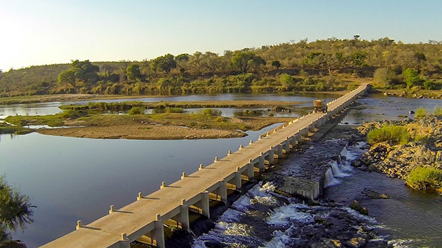 Mjejane's private bridge into the Kruger National Park. Photograph by Mjejane Lifestyle