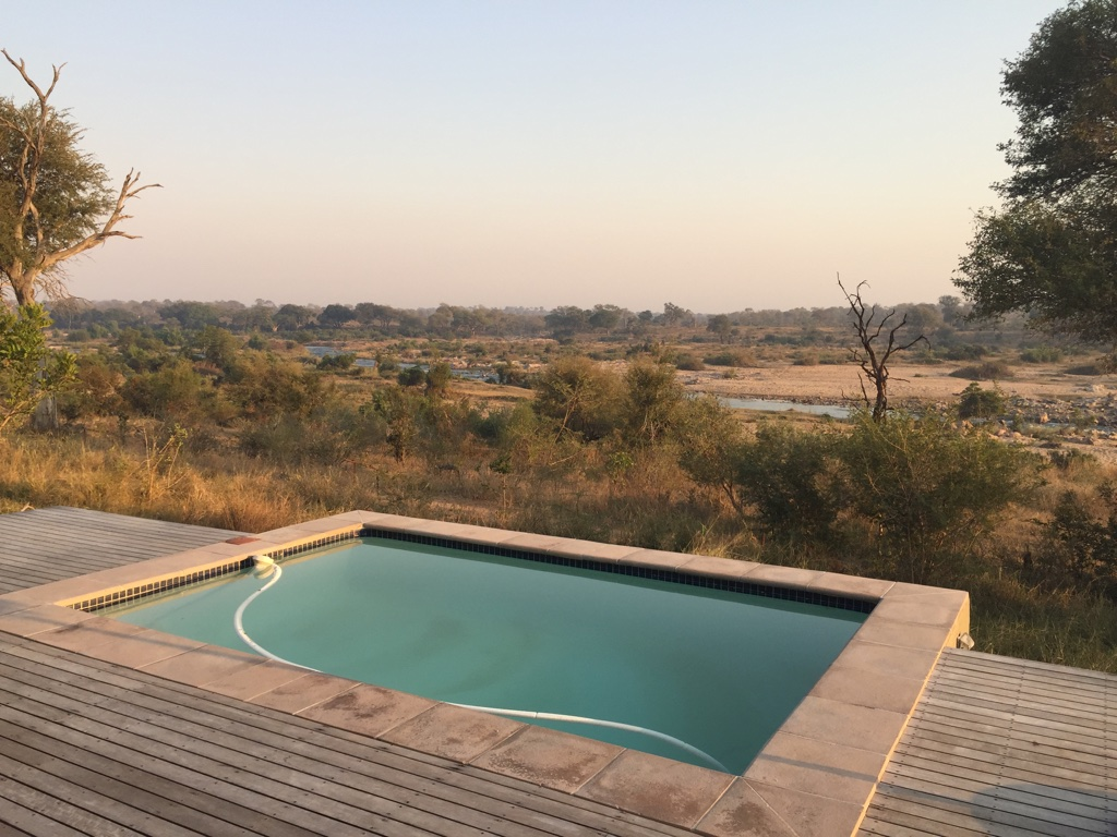View across the Crocodile River into the Kruger National Park - from your own pool!