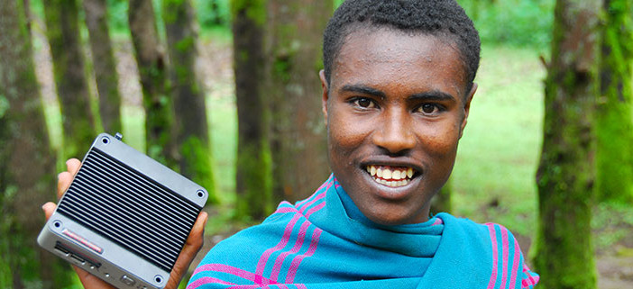 "Solar computer ""hole in the wall"" project provides free ICT access to children in a rural Ethiopian village"
