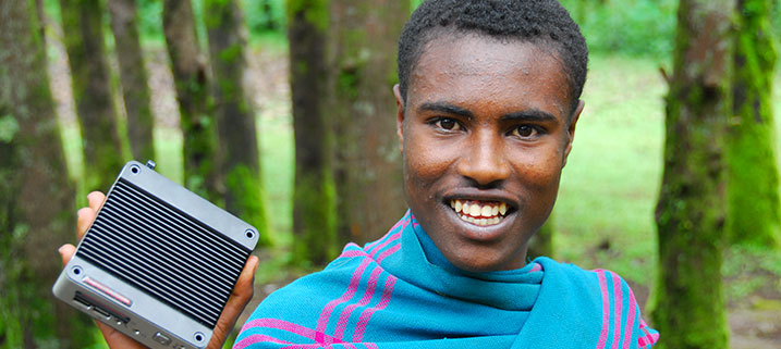 """Solar computer """"hole in the wall"""" project provides free ICT access to children in a rural Ethiopian village"""