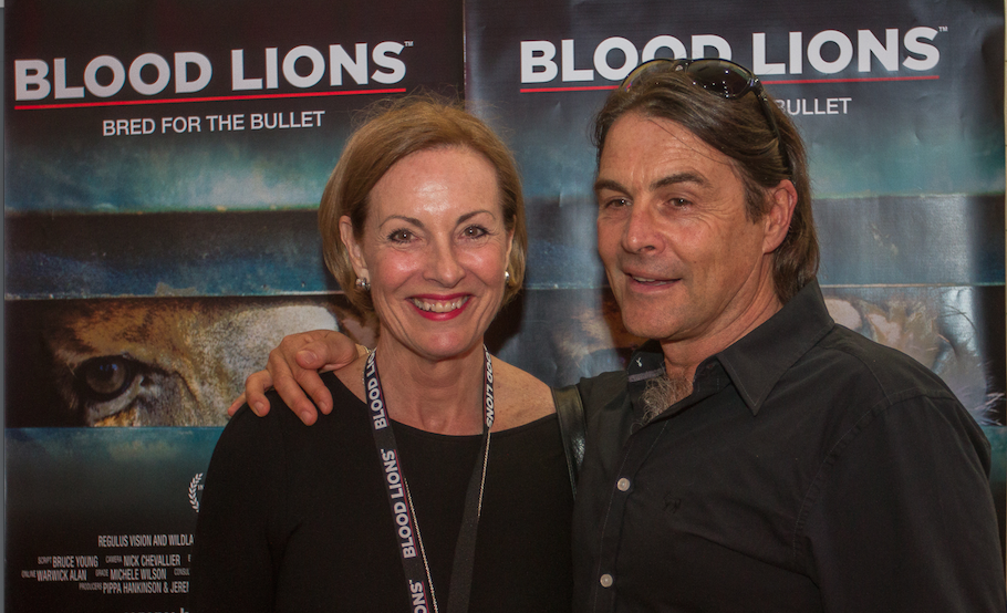 Ian Michler with Pippa Hankinson, Producer of Blood Lions