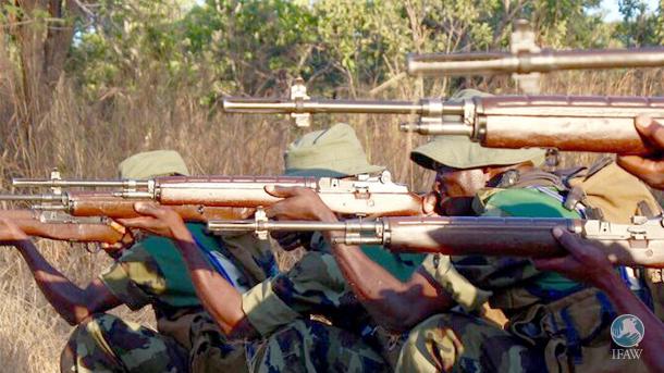 Commando Unit shooting practice.